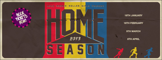Auld Reekie Roller Girls Home Season Banner