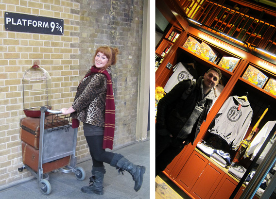 Harry Potter Platform Nine and Three Quarters Shop Kings Cross Station